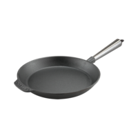 Cast Iron Skillet Frying Pan 24cm Steel Handle