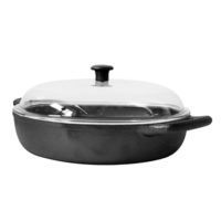 Shallow Cast Iron Casserole 32cm 4,5L with Glass Lid