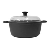 Cast Iron Casserole 24cm 4L with Glass Lid
