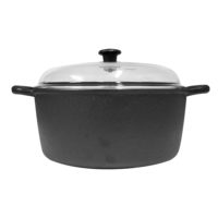 Cast Iron Casserole 28cm 7L Glass Lid