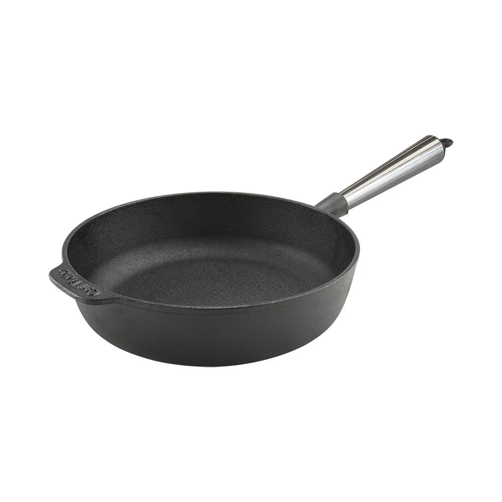 Cast Iron Saute Pan 25cm Steel Handle