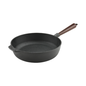 Cast Iron Saute Pan 25cm Wood Handle
