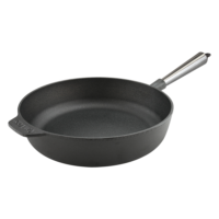 Cast Iron Saute Pan 28cm Steel Handle