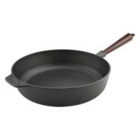 Cast Iron Saute Pan 28cm Wood Handle