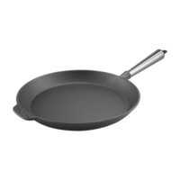 Cast Iron Skillet Frying Pan 28cm Steel Handle