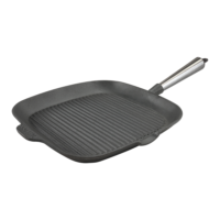 Cast Iron Square Grill Pan 28cm Steel Handle