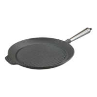 Cast Iron Grill Pan 28cm Steel Handle