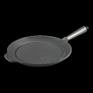 Poêle Grill en Fonte 28cm Manche Inox