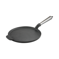 Cast Iron Pancake Pan 23cm Steel Handle