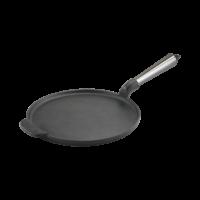 Gietijzeren Pannenkoekenpan 23 cm Roestvrij staal handvat