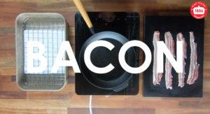 Steka Bacon i Gjutjärnspanna