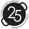 25 års gjutjärns garanti